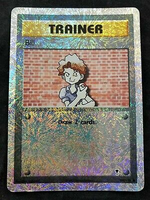 Pokemon TCG CCG Bill Reverse Foil Legendary Collection 108/110 Heavily Played HP