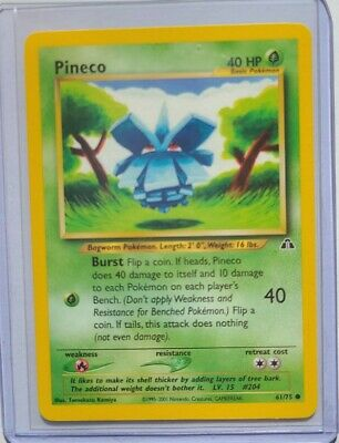 Pokemon Card - Pineco 61/75 - Neo Discovery- Excellent Condition
