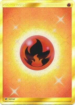 Pokemon Sun & Moon Burning Shadows Secret Rare Fire Energy #167