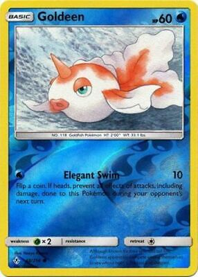 1x Goldeen - 48/214 - Common - Reverse Holo Unbroken Bonds Pokemon Near Mint