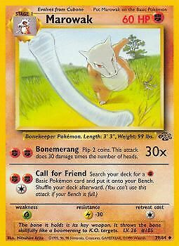 Pokemon - Marowak - 39/64 - Jungle - Uncommon - Played