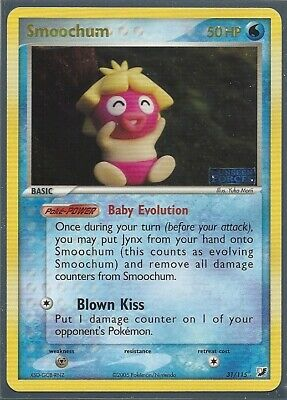 2005 Pokemon Smoochum 31/115 Ex Unseen Forces Rare Rev Holo Stamped Nm/mint