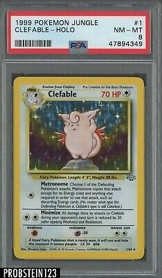 1999 Pokemon Jungle #1 Clefable Holo PSA 8 NM-MT