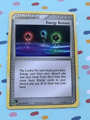 Energy Restore uncommon pokemon trainer card from Ex Ruby & Sapphire set 81/109