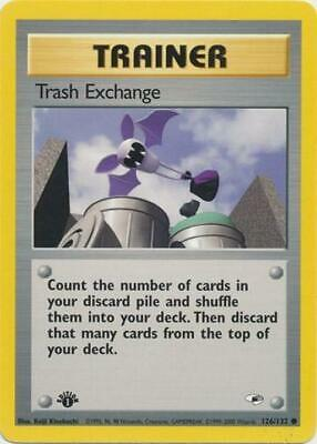 Trash Exchange 126 NM Gym Heroes 1st Edition WOTC Pokemon Card Tracked Shipping