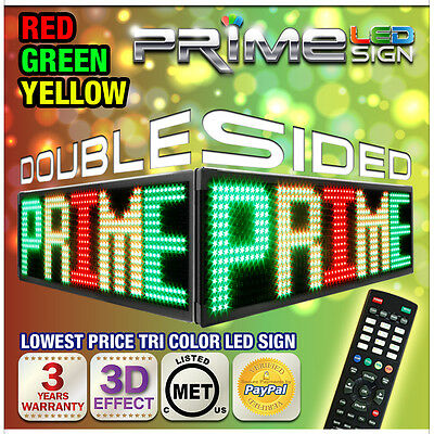 """Rgy 15mm Double-sided 69"""" X 12"""" Programmable Led Sign Scrolling Message Display"""