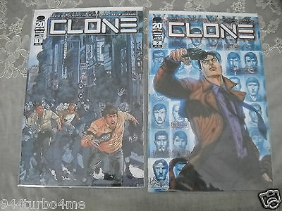 Image Comics Clone #1 And 2 1st Printing  Skybound Entertainment Hot!