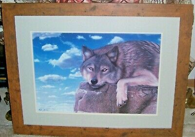 Extremely Rare Andrew Goralski Unforgiven Print Of Lone Wolf 61/650 1993 Signed
