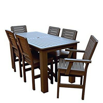 Highwood Ad-cnw37-ace Weatherly 7pc Rectangular Counter Dining Set Weathered Aco