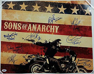 Sons Of Anarchy Cast X8 Signed 16x20 Photo #2 Sagal Coates Lucking W/psa/dna