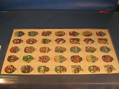 1974 topps ugly stickers uncut sheet of 35 stickers