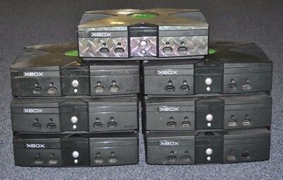 Lot Of (7) Broken Original Microsoft Xbox Consoles Sold As Is Free Shipping