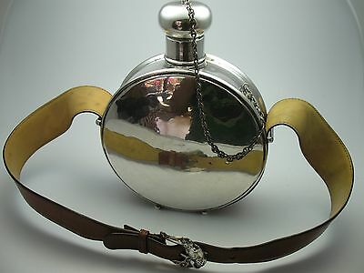 Rarity Very Rare Water Bottle Westernflasche Flask From 800 Silver
