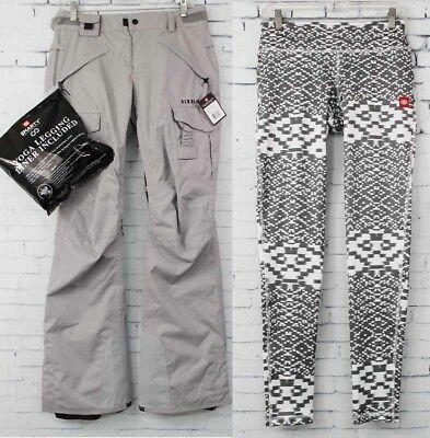 2018 686 Womens Authentic Smarty Cargo Snowboard Pants Small Light Grey 883510361508