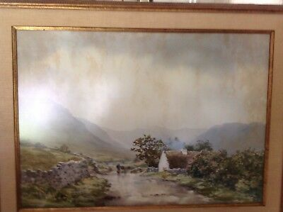 """Frank Eggington Water Color Painting """"country Side"""" 21 X 30 Original"""