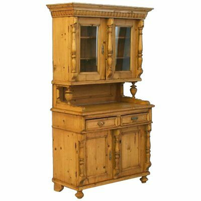 Antique European Country Pine Cupboard