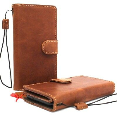 Genuine Leather Case For Apple Iphone Xs Max Wallet Handmade Cover Detachable