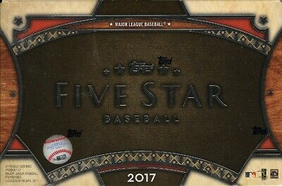 2017 Topps Five Star Baseball Hobby 8 Box Case Blowout Cards