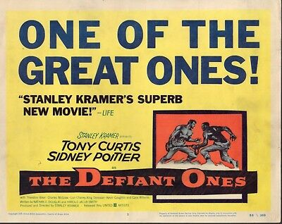 """Tony Curtis Sidney Poitier The Defiant Ones Set Of 8 11x14"""" Lobby Cards N2909"""