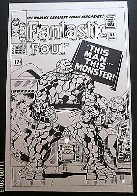 Jack Kirby (fantastic Four # 51 ) Classic Re-creation Original Art Cover (wow)