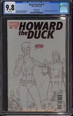 Howard The Duck #1 (2016) Cgc 9.8 Nm/m 1st Gwenpool Appearance Lim Sketch Cover
