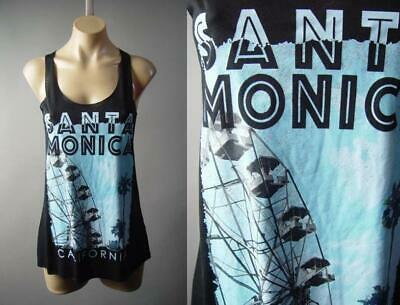 Santa Monica California Beach Palm Tree La Graphic Tee Tank Top 296 Mvp Shirt S