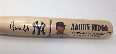 Aaron Judge Signed Yankee Rookie Hr Record Commemorative Bat Fanatics Le 7/99