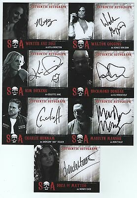 Sons Of Anarchy Seasons 6 & 7 Autograph Card Set - 14 Cards - W/ Marilyn Manson
