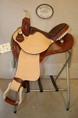 Gw Crate Barrel Saddle Made In Bryant Alabama~mahogany Rough Out