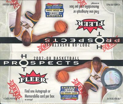2007/08 Fleer Hot Prospects Basketball Retail 20 Box Case Blowout Cards