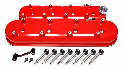 Holley 241-113 Ls Tall Valve Covers - Gloss Red 72mm Coil Spacing Pair