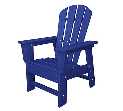 Polywood Polywood Kids Casual Chair In Pacific Blue Sbd12pb Adirondack Chair New