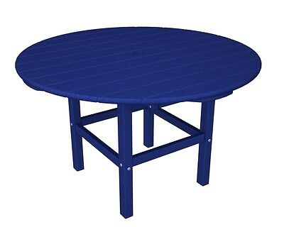 """Polywood 38"""" Kids Dining Table In Pacific Blue Rkt38pb Dining Table New"""