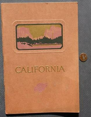 1927 Chicago North Western Railroad Line Western California Tours Booklet-rare!*