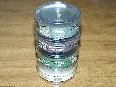 New 4 Crackles As It Burns Woodwick Mixed Scented Yankee Petite Candles Lot 7