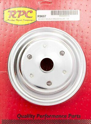 Chrome Steel Crankshaft Pulley 2groove Long Wp Racing Power Co-packaged R9607