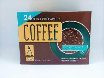 Daves Choice Single Cup Coffee Capsules (classic Roast) Case 20 Boxes Of 24 Cups
