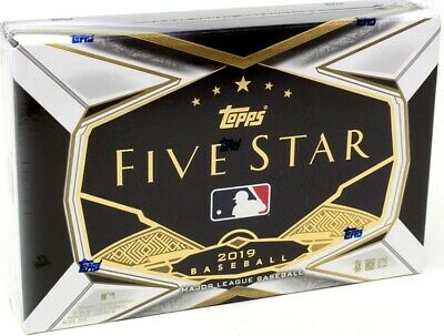 2019 Topps Five Star Baseball Hobby 8 Box Case Blowout Cards