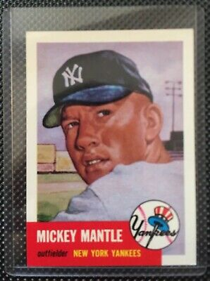 1953 Topps Mickey Mantle New York Yankees #82 Baseball Card. *perfect Condition*