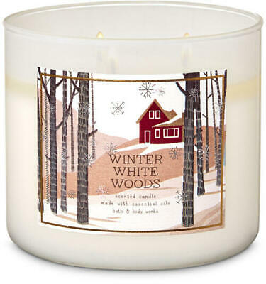 Winter White Woods 14.5 Oz 3-wick Candle Bath & Body Works Ships Free Priority!