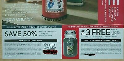 2x Yankee Candle B1g1 Buy 1, 2 Or 3 Get 1, 2, Or 3 🅵🆁🅴🅴 & 50% Off Fees 12/24