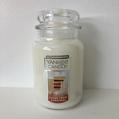 Yankee Candle ~ Sugar Frost Christmas ~ 22oz Large Jar *free Expedited Shipping*