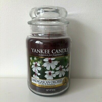 Yankee Candle ~ Madagascan Orchid ~ 22oz Large Jar *free Expedited Shipping*