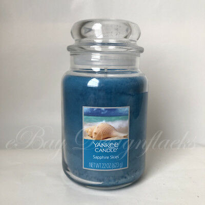 Yankee Candle ~ Sapphire Skies ~ 22oz Large Jar *free Expedited Shipping*