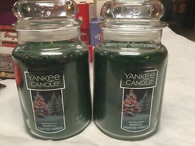 2 Yankee Candle 22 Oz Large Jar Fragrance Magical Frosted Forrest Christmas