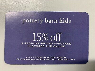 Pottery Barn Kids Coupon 15% Off Entire Purchase, Exp 02/29/20 - Sent Same Day!