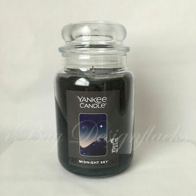 Yankee Candle ~ Midnight Sky ~ 22oz Large Jar *free Expedited Shipping*