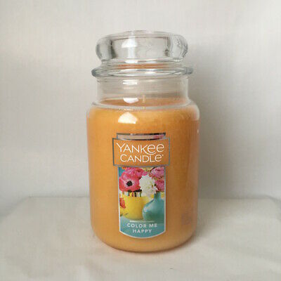 Yankee Candle ~ Color Me Happy ~ 22oz Large Jar *free Expedited Shipping*