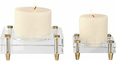 Uttermost 18643 Claire Two Piece Crystal And Iron Table Votive - Gold