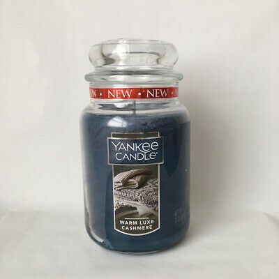 Yankee Candle ~ Warm Luxe Cashemere ~ 22oz Large Jar *free Expedited Shipping*